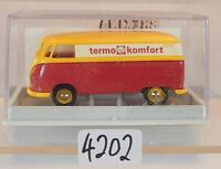 Brekina 1/87 Nr. 32541 Volkswagen Bulli VW T1b Kasten Shell Termo OVP #4202