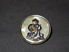 WW1 Silver & MOP Sweetheart Brooch/Badge - The Royal Defence Corps