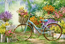 Puzzle Blumen-Markt mit Fahrrad, 1000 Teile, Blüten, Flora, Kunst, Castorland