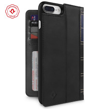Twelve South BookBook iPhone 6+/6s+/7+/8+ leather wallet case/stand/shell Black