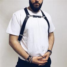 Men Lingerie BDSM Leather Body Adjustable Chest Suspender Belts Harness Clubwear