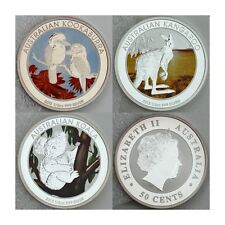 2013 50-Cents Australian Outback 3-coin Set 1/2 oz .999 Silver Proof Coins Color