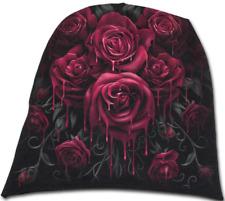 Spiral Direct BLOOD ROSE - Light Cotton Beanie Black, Hat, Alternative, gothic
