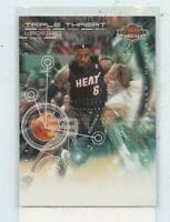 Lebron James 2010-11 Panini Threads Triple Threat #5 Miami Heat