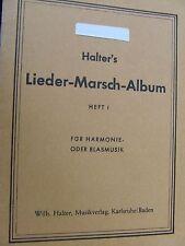 Halter`s Lieder-Marsch-Album Heft 1  Bariton in B (Violinschlüssel)
