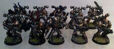 Warhammer 40k-Iron Warriors-Chaos Space Marines (10) (bien peint)
