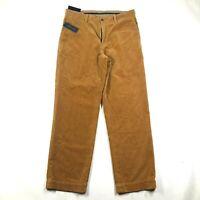 NEW Vintage Polo Ralph Lauren Corduroy Pants Mens 34x30 Preston Pant Brown Tan