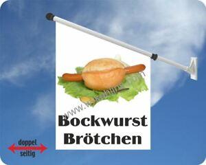 Flagge, Bockwurst Brötchen, Grill,Imbissbude, Imbiss,Essen,Bockwürstchen,Fahne