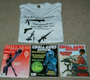Small Arms Review Gun T-Shirt XL + 3 Magazines January 2000 June 2003 March 2006