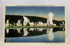 Yellowstone National Park Upper Geyser Basin Hill Postcard Old Vintage Card View