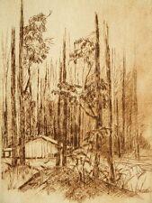 Limited edition etching 'Nanga, Australia' pencil signed; V. Gardner 1985