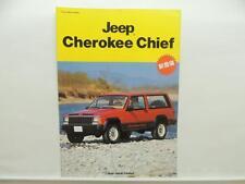 Japanese Jeep Cherokee Chief Dealer Brochure Mitsubishi Literature L9071