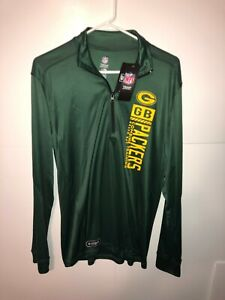 Green Bay Packers NFL Combine Authentic 1/4 Zip Pullover Size Medium New W Tags