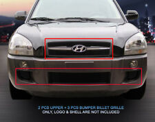For 2005-2009 Hyundai Tucson Blot-On Billet Grille Grill Combo Grill
