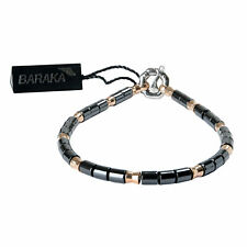 BARAKA Men's BR281021ROCN210002 Rose Gold Ceramic White Diamonds Bracelet