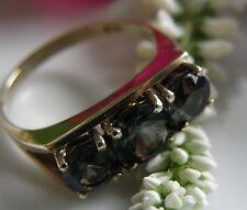 Antiker Designer Ring 333° Gold echter grüne Turmalin Gr.53 Jugendstil 1900 R242