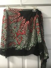 NEW Anna Sui Silk Chiffon Wrap Skirt Size P