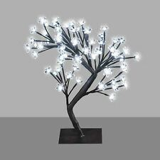 64 LED BONSAI ALBERO DI NATALE BIANCO LUCE Decor Lampada da tavolo Natale Lucine 45cm