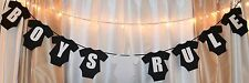 Giant 11 inch clothin its a boy,boys rule,black/white hanging baby shower banner