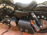 Solo Tasche  Harley Davidson Sportster Sporty Flame 1200 883 48 Schwingentasche