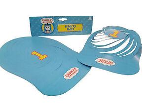 Thomas The Tank Engine Birthday Children's Kids Party Hat Blue Paper Card Spiral