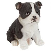 Boston Terrier Puppy Partner Design Toscano Collectible Dog Statue