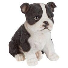 Boston Terrier Puppy Partner Design Toscano Collectible Dog Statue