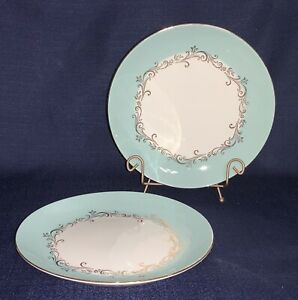 """Lifetime China Co GOLD CROWN 10"""" Dinner Plates, Set of 2"""