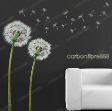 Light Green Dandelion Flowers Wall Stickers Art Decal Wallpaper Home Mural Decor