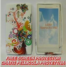 Pellicola+Custodia cover ROSA MULTICOLORE FANTASY per Sony Xperia S Arc HD LT26I
