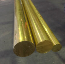 "BRASS ROUND MACHINING BAR (1"") 25.4mm X 300mm LONG - LATHE, MILLING, CNC"