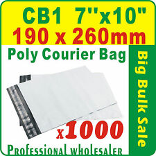 "1000 x CB1 190X260mm(7''X10"") Courier Bag Poly Mailer Satchel Lowest Price Gtee"