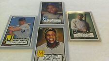2012 TOPPS HERITAGE BASEBALL 4 CARD PACK-MANTLE-MAYS-RUTH-ROBISON+1913 RUTH RPT.