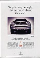 2007 Mercedes Benz GL450 - trophy award -  Vintage Advertisement Ad A36-B