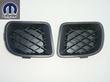 CHRYSLER PT CRUISER 06 - 10 FRONT BUMPER INSERT FOG LIGHT LAMP HOLE COVERS SET
