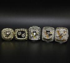 5pcs NHL Pittsburgh Penguins Championship Ring Replica Display Set with Box