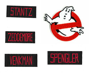 GHOSTBUSTERS NAME TAG Iron on Patch Embroidered Badge Spengler Stantz Venkman