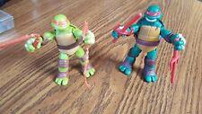 """2012Viacom TMNT Michaelango Raphael 5"""" Teenage Mutant Ninja Turtle Action Figure"""