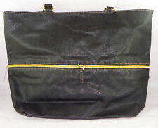 Black Expandable Tote Handbag Black Purse Gold Tone Accents Large Black Purse