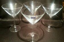 RARE Bohemia Royal Crystal Set of 4 Martini Glasses