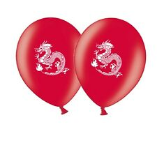 """Chinese Dragon Printed 12"""" Red Latex Balloons pack of 12 by Party Decor"""