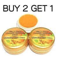 Turmeric Curcumin Plai Whitening Cream Nourishing Face Skin Dark Spot Night 5 g.