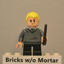 New Genuine LEGO Draco Malfoy Minifig with Wand Harry Potter 75954
