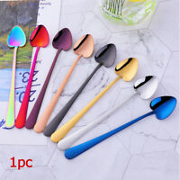 Heart Shape Stainless Steel Dessert Tea Coffee Spoon Sugar Honey Ice Cream Scoop