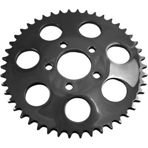 Drag Specialties Gloss Black 530 Chain Coversion Dished Sprocket 51-Tooth Harley