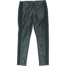 NEW Womens LRL Lauren Jeans Co. Black Super Stretch Faux Leather Leggings AU 16