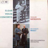 YEHUDI MENUHIN: ELGAR VIOLIN CONCERTO HMV LP ASD2259 Boult / New Philharmonia EX