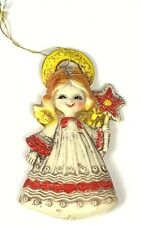 Vtg Plastic Angel Ornament Japan