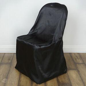20 pc Black Satin Folding Chair Covers Wedding Reception na