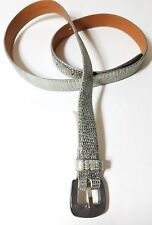 Ralph Lauren Silver Lizard Skin Belt W Resin Buckle Size M